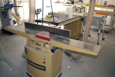 Jointer front view